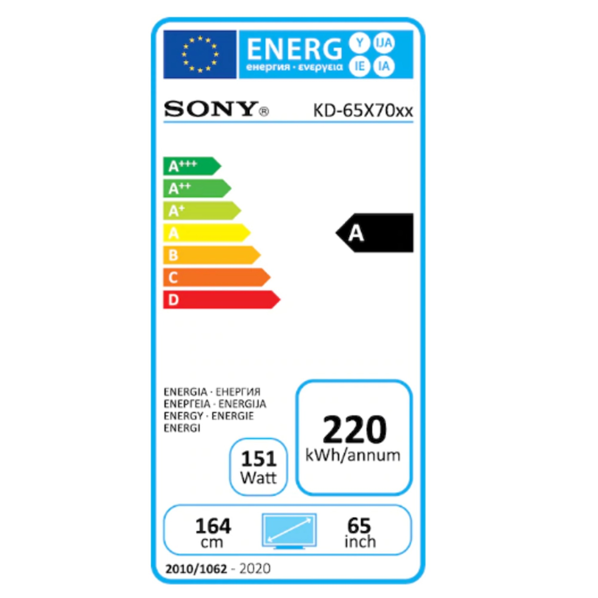 "Sony 65"" Ultra HD LED Smart TV KD65X7055BAEP"
